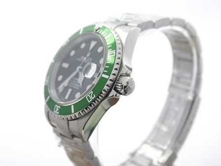 Rolex with green bezel